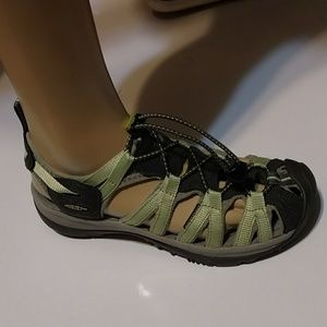 Keen Light Green/Gray Women's 8 Waterproof Sandals